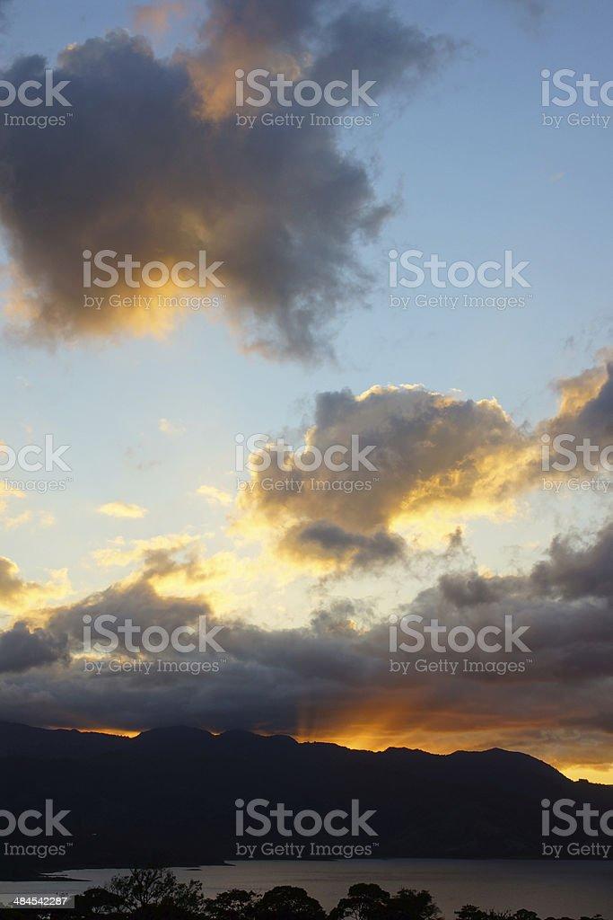 Lake Arenal at sunset stock photo