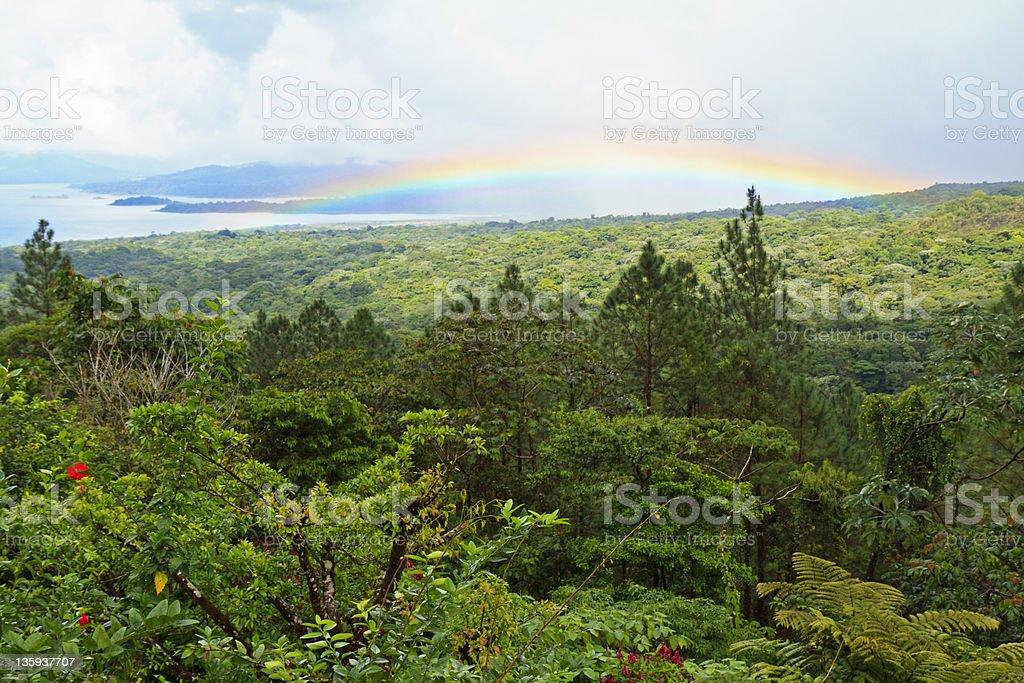 Lake Arenal Rainbow stock photo