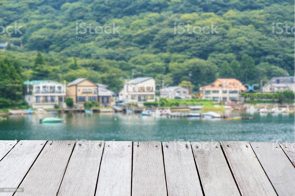 Lake Ashi stock photo
