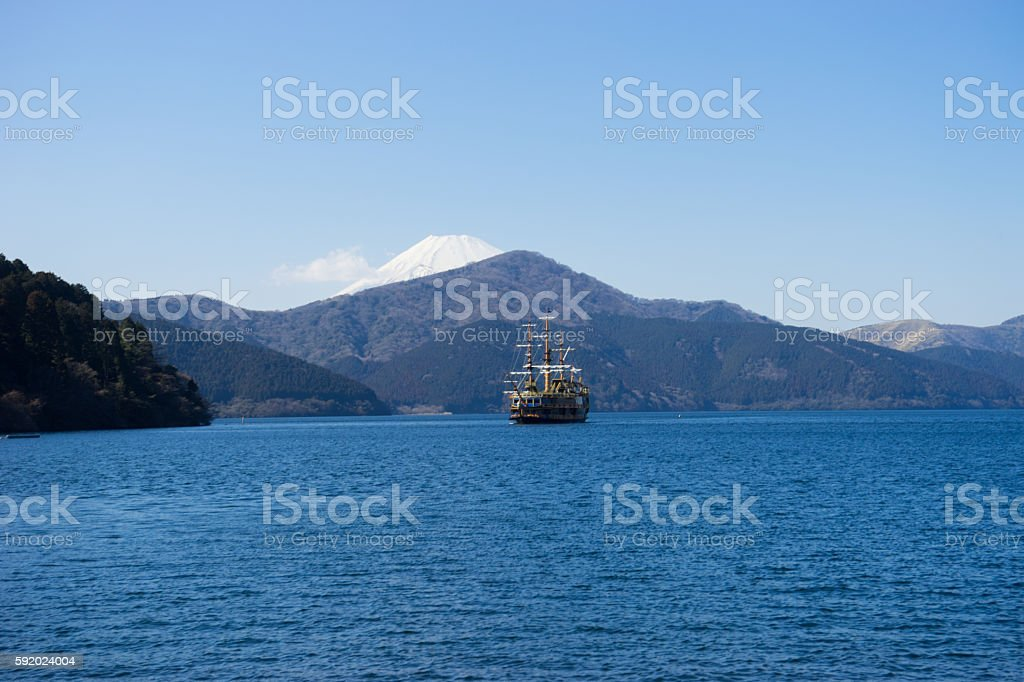 Lake Ashi stock photo