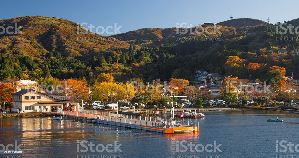 lake ashinoko stock photo