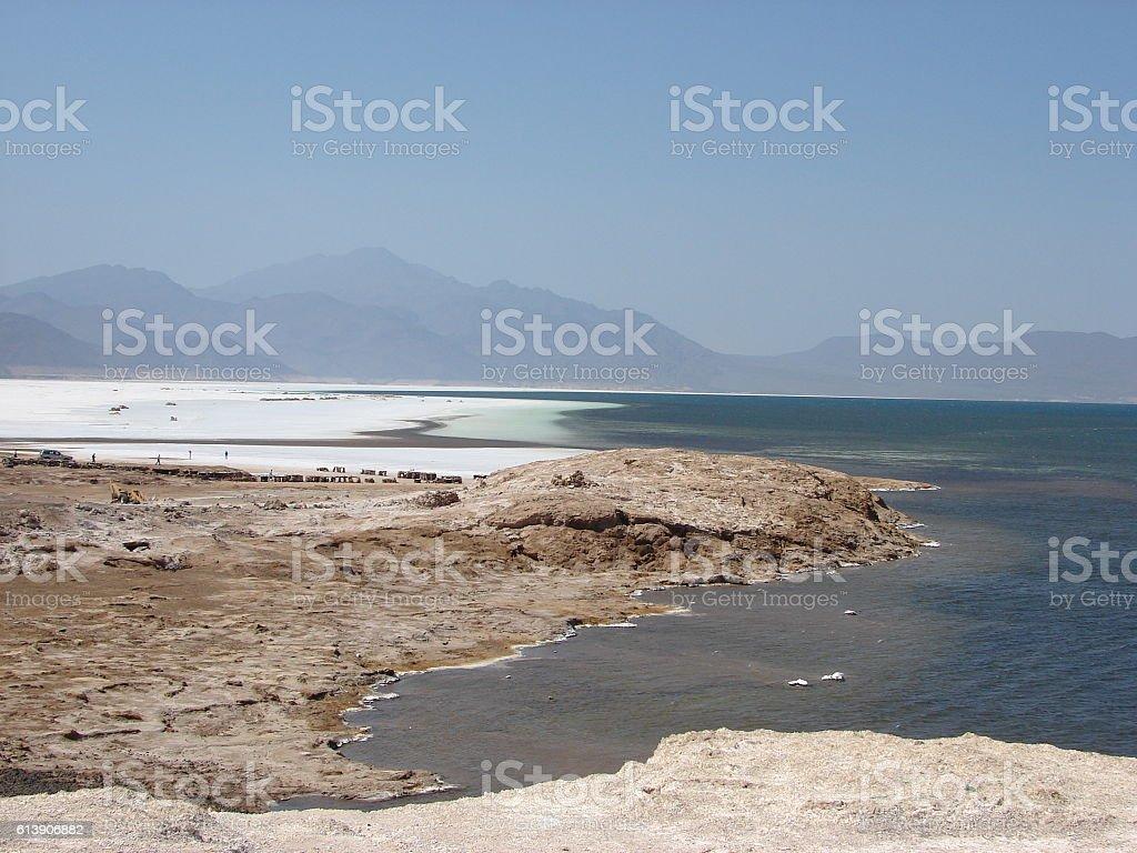 Lake Assal Djibouti stock photo