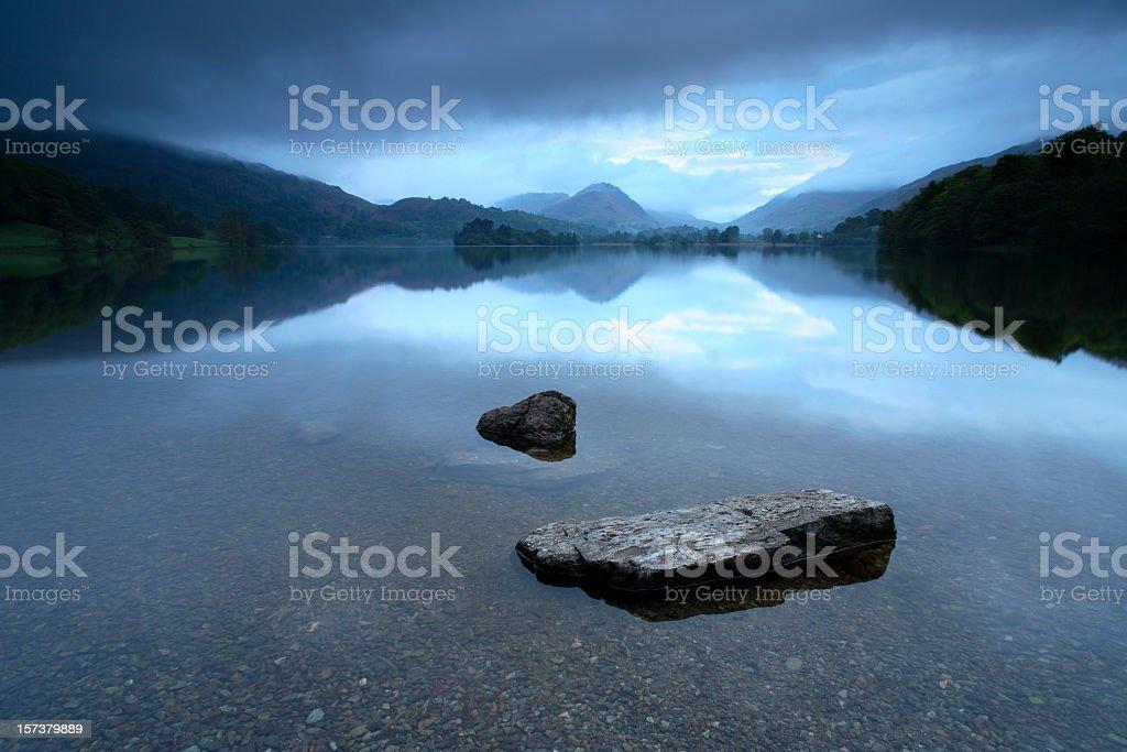 Lake at Dawn stock photo
