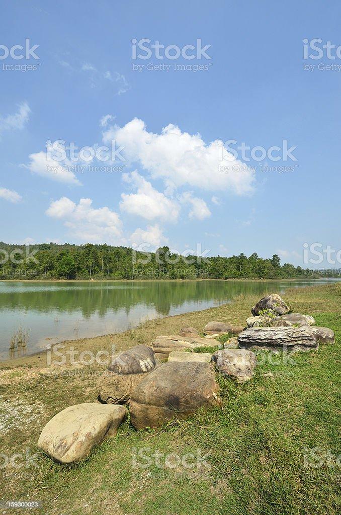 Lake at Khao Yai National Park, Thailand. royalty-free stock photo