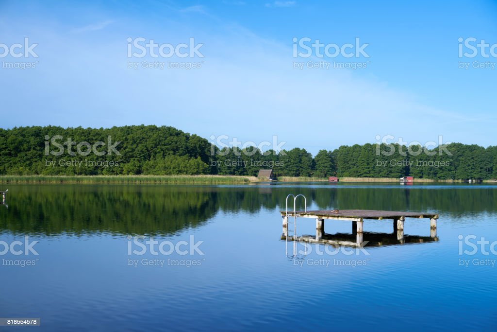 Lake at Mirow in the Mueritz National Park i stock photo