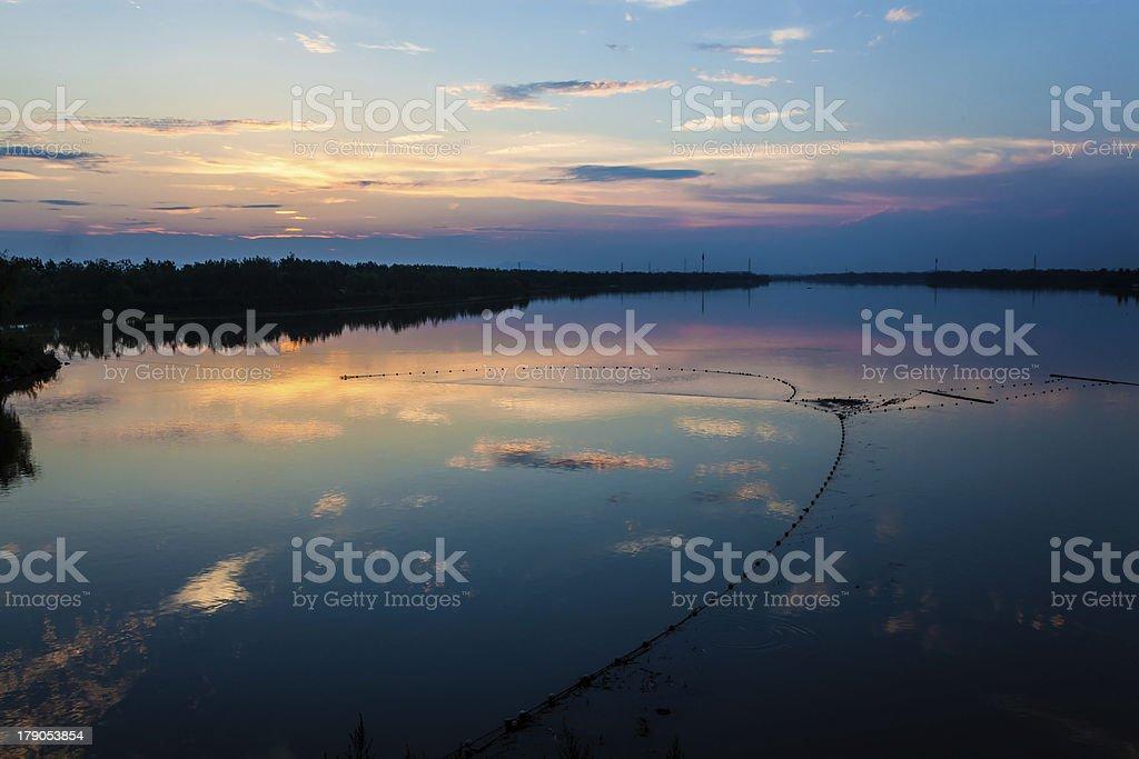 lake at night royalty-free stock photo