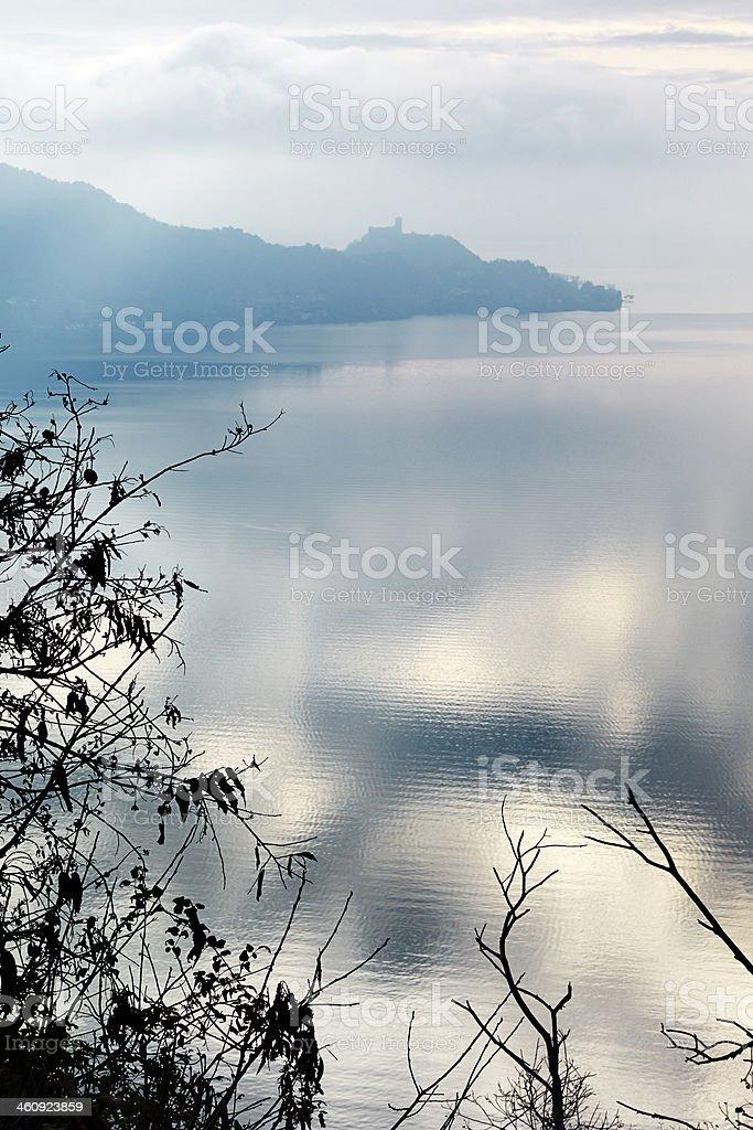 lake at sunset. Color Image royalty-free stock photo