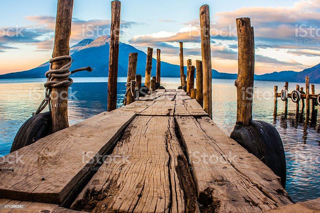 Lake Atitlan stock photo