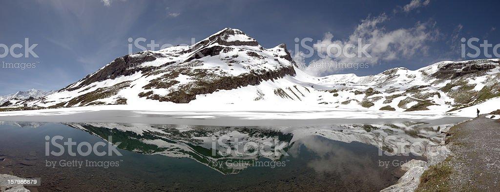Lake Bachalp above Grindelwald, Switzerland stock photo