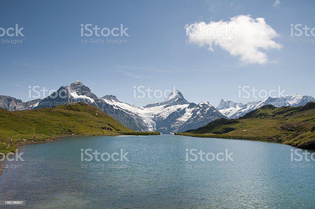 Lake Bachalp stock photo