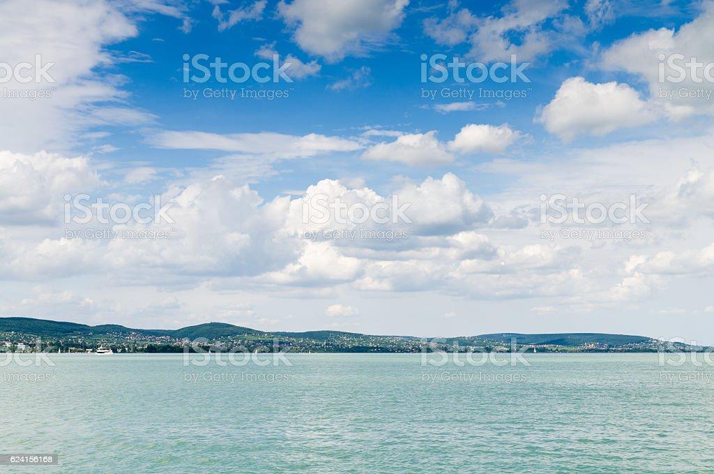lake background stock photo