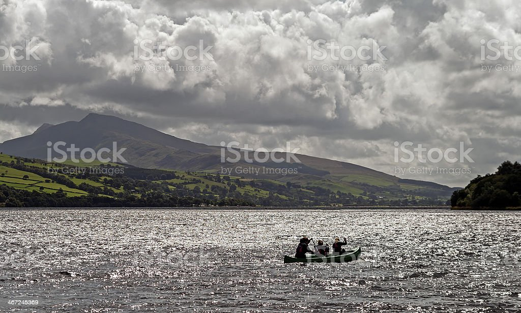 Lake Bala, North Wales royalty-free stock photo