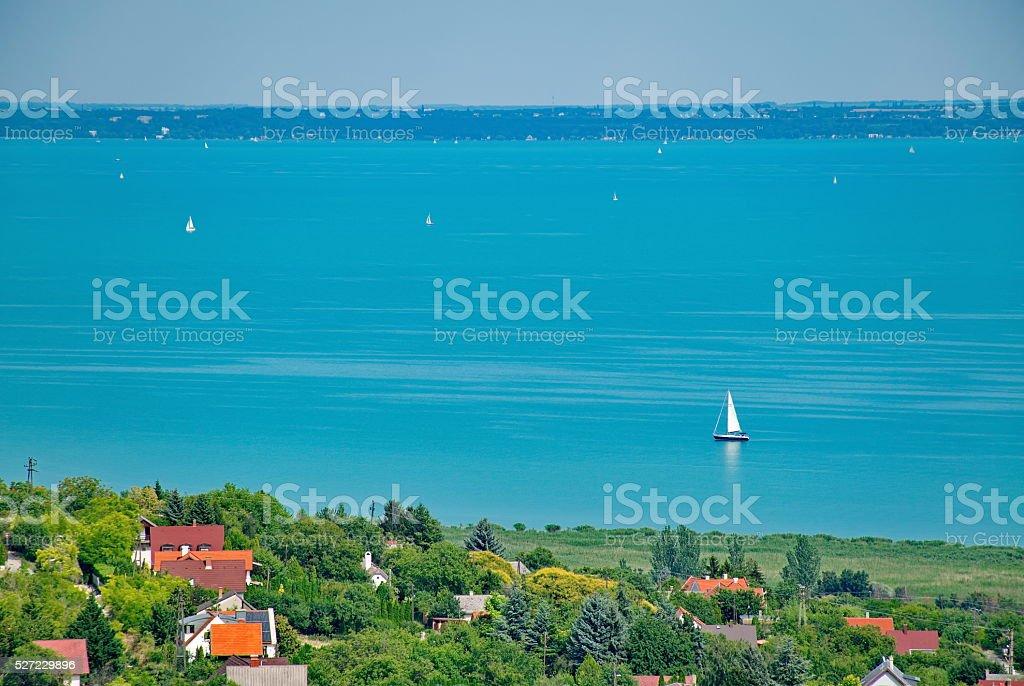 Lake Balaton at summer stock photo