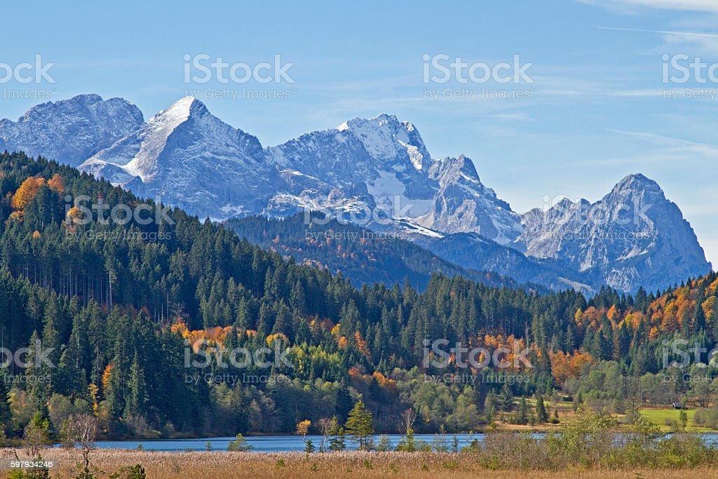 lake Barmsee in Upper Bavaria stock photo