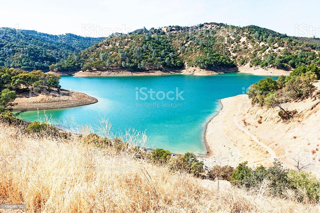 Lake Berryessa in Napa County stock photo