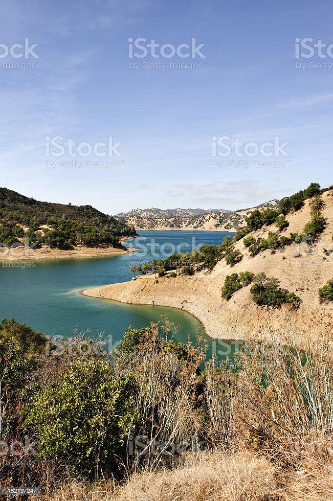 Lake Berryessa Low Water stock photo