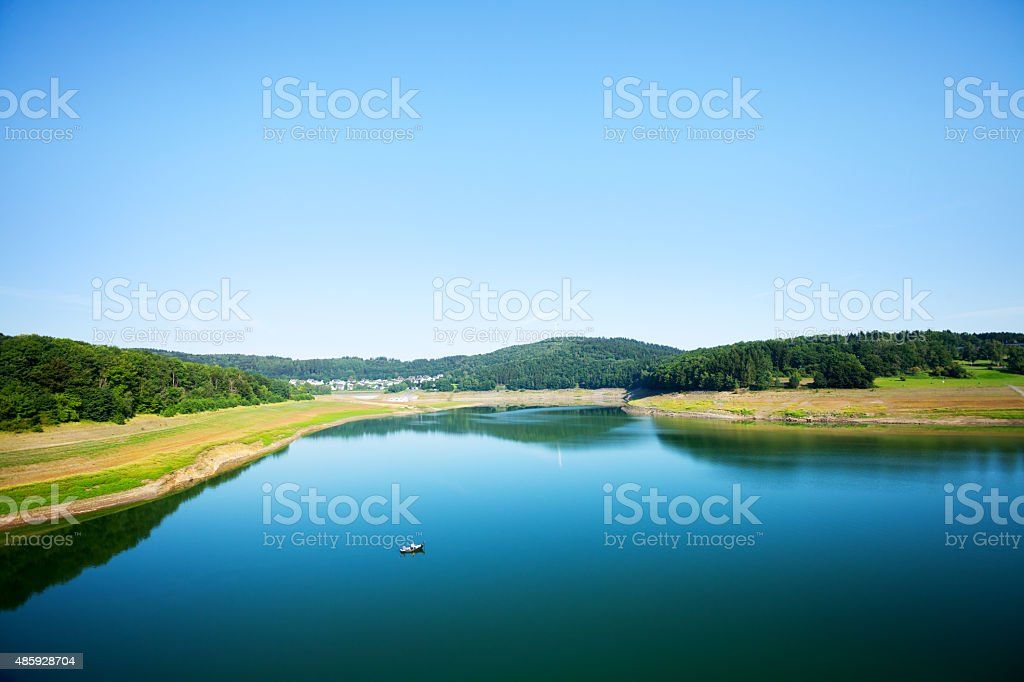 Lake Biggesee in North Rhine Westfalia stock photo