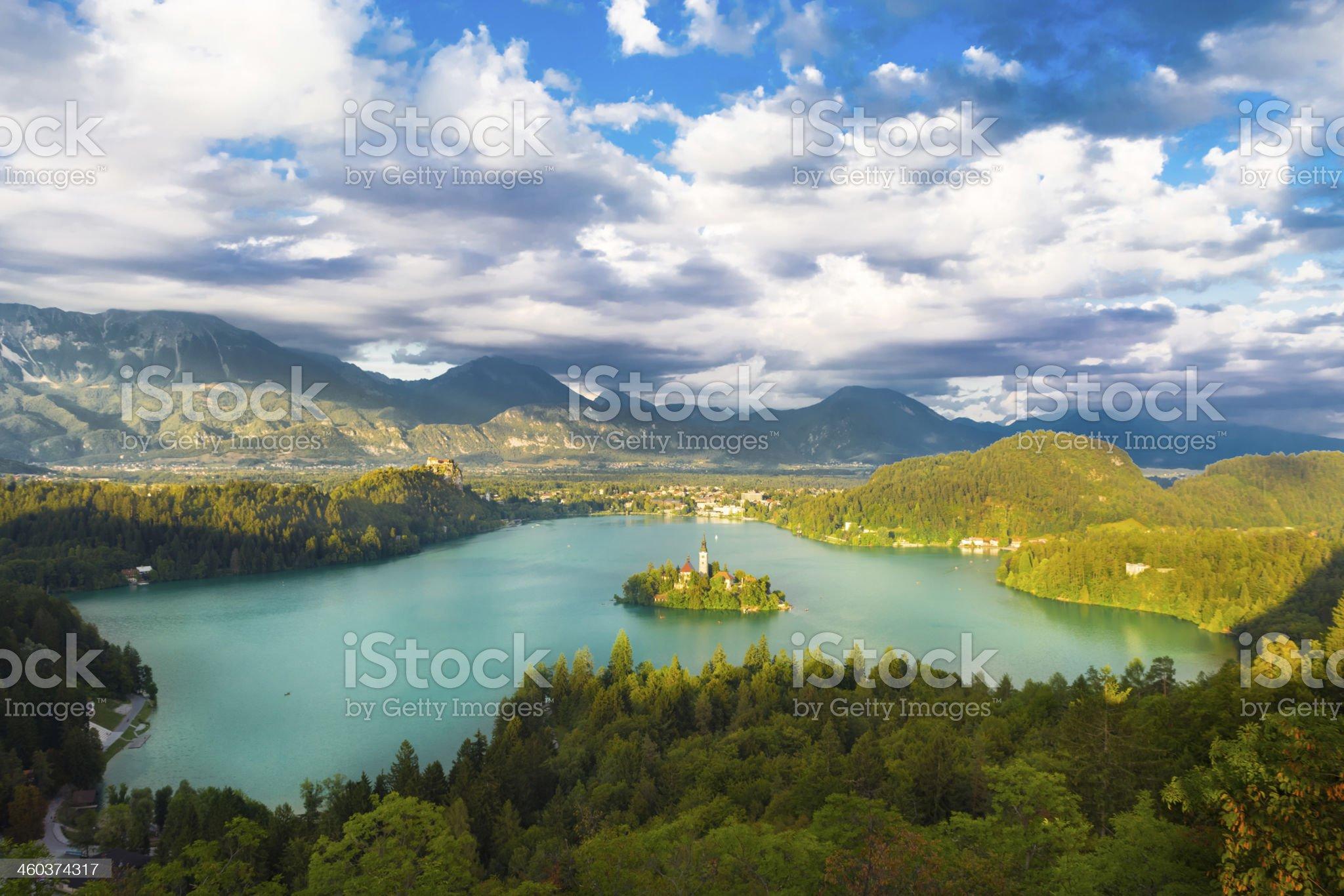 Lake Bled in Julian Alps, Slovenia. royalty-free stock photo