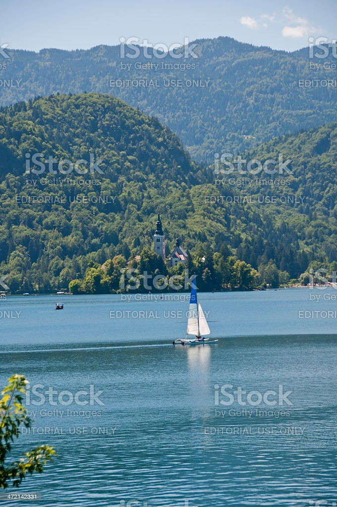 Lake Bled in Slovenia royalty-free stock photo