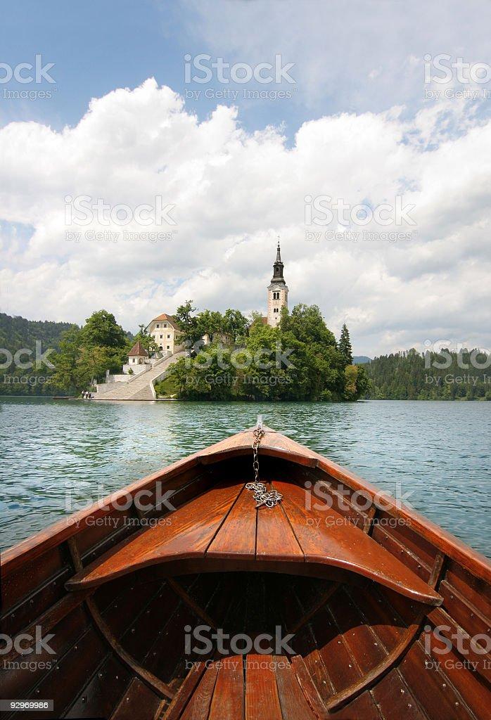 Lake Bled royalty-free stock photo