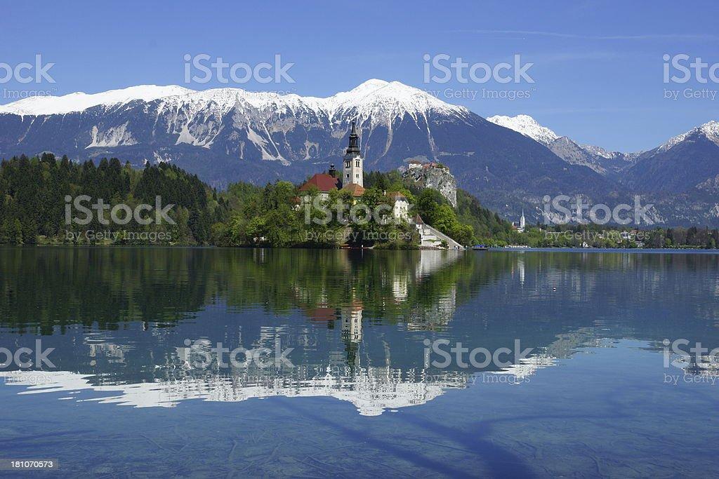 Lago sangrado, Eslovenia foto de stock libre de derechos