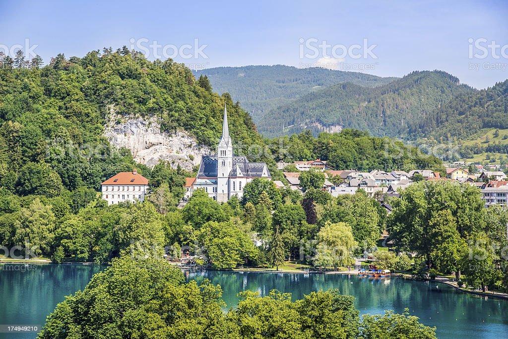 Lake Bled Slovenia View royalty-free stock photo