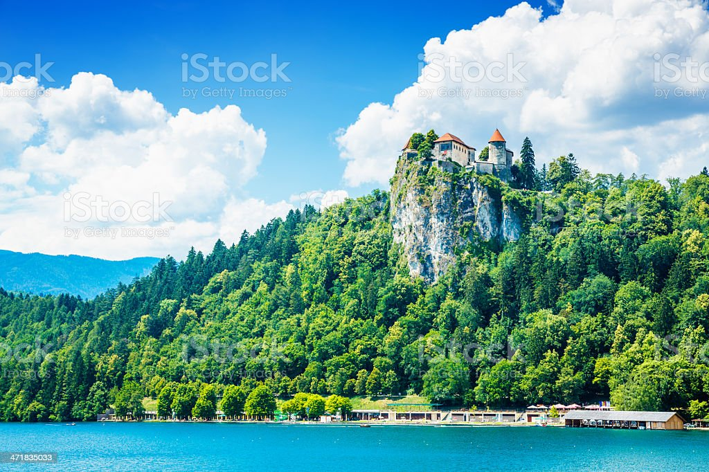 Lake Bled with castle royalty-free stock photo