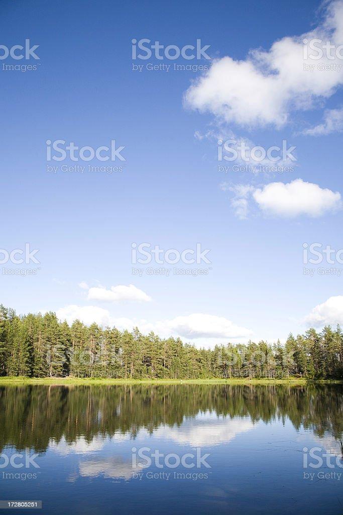 lake blue royalty-free stock photo