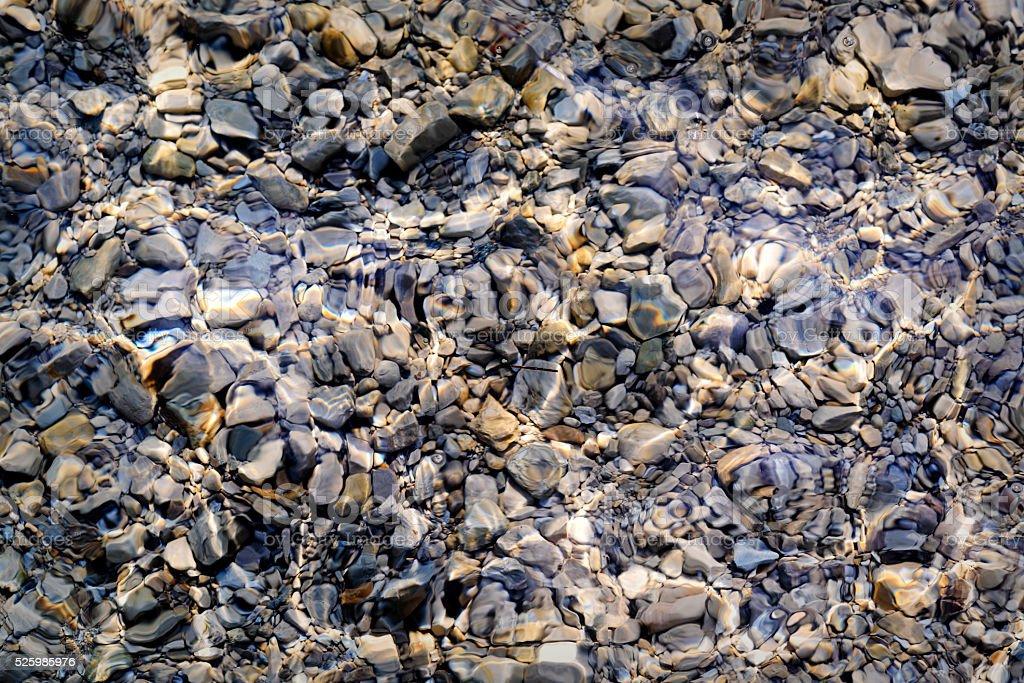 Lake Bottom Stone Texture stock photo