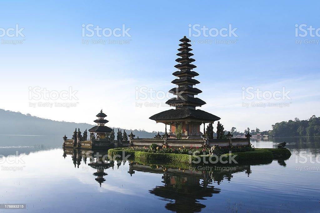 lake brataan water temple dawn bali indonesia royalty-free stock photo