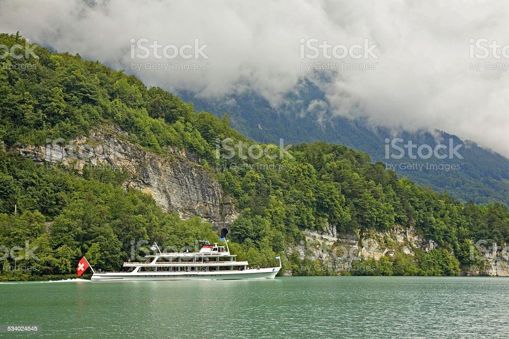 Lake Brienz in Interlaken. Switzerland stock photo