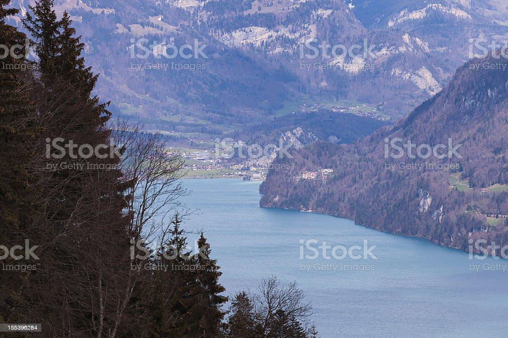Lake Brienz in Spring, Bernese Oberland, Swiss Alps stock photo
