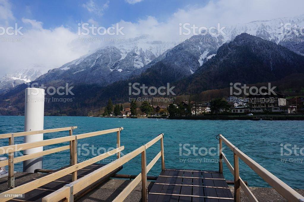 Lake Brienz, Switzerland stock photo