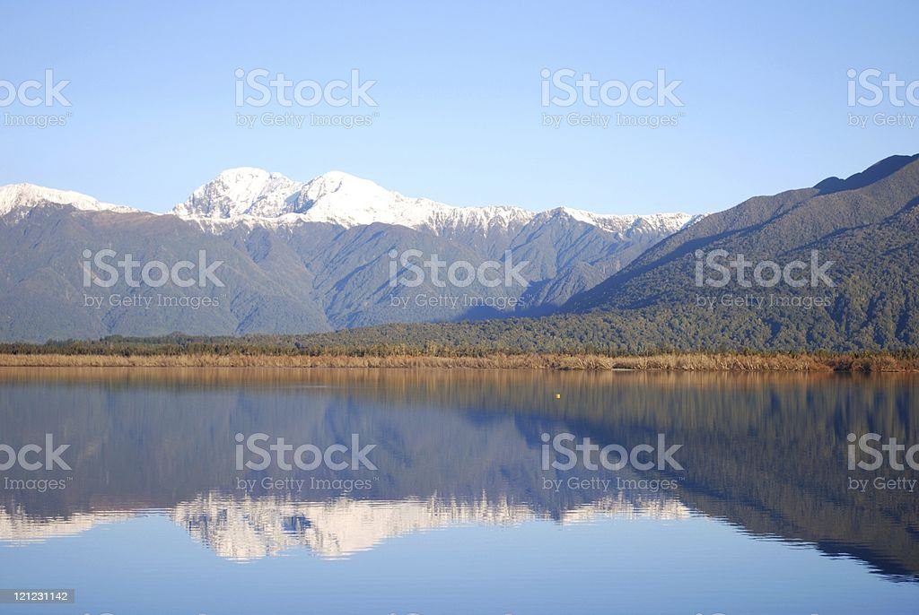 Lake Brunner, Moana, New Zealand royalty-free stock photo