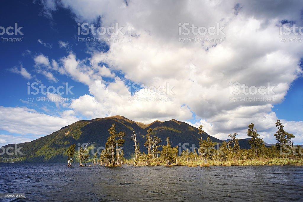 Lake Brunner New Zealand stock photo