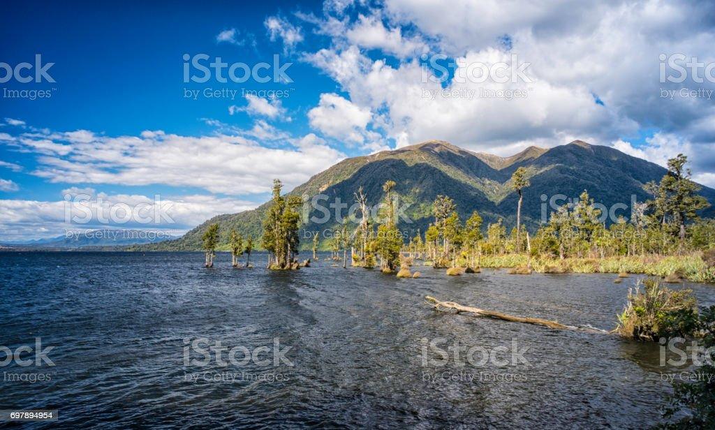 Lake Brunner On New Zealand's South Island stock photo
