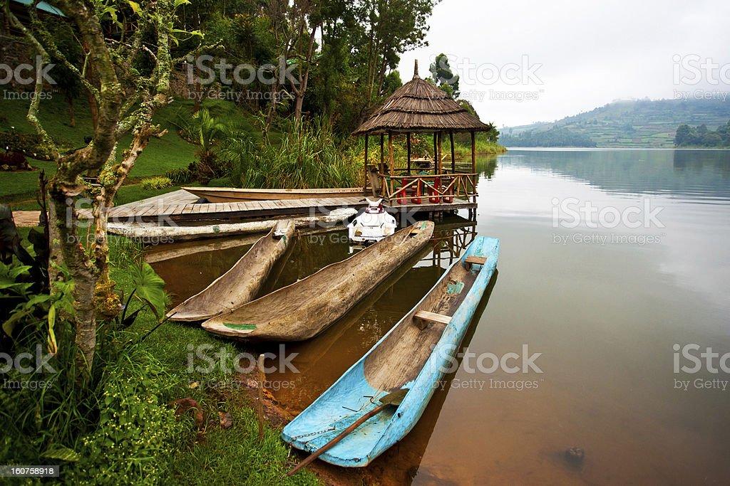 Lake Bunyonyi in Uganda, Africa stock photo
