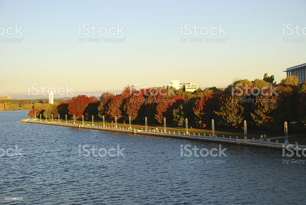 Lake Burley Griffin, Canberra, Australia stock photo