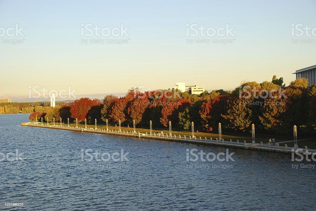 Lake Burley Griffin, Canberra, Australia stock photo