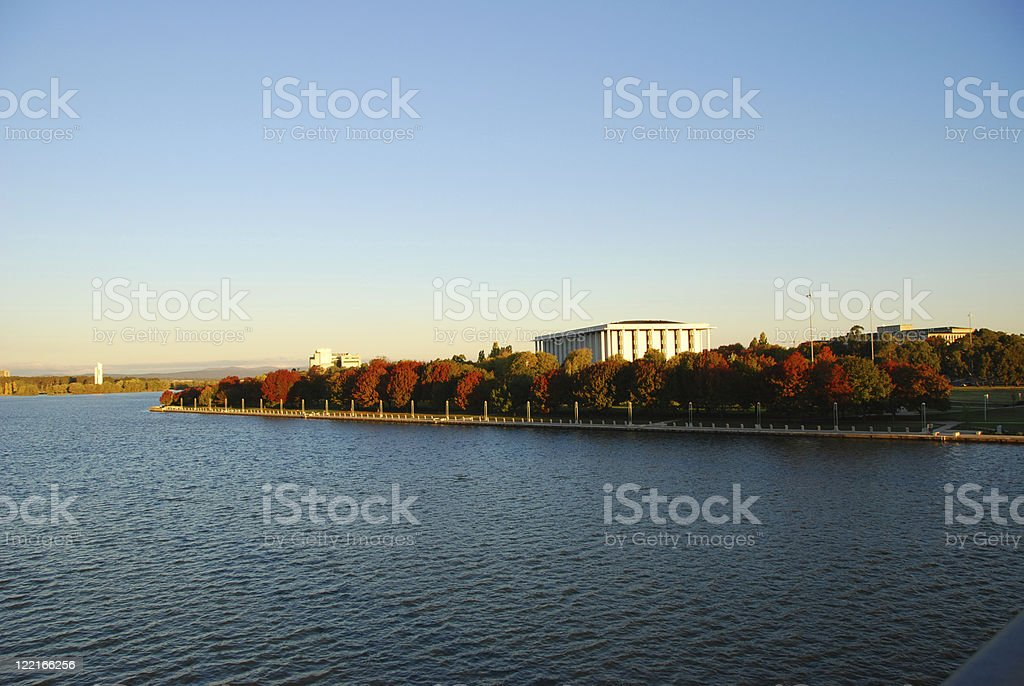 Lake Burley Griffin stock photo