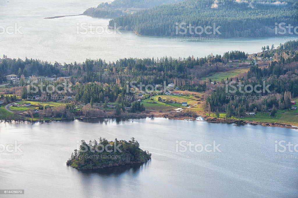 Lake Campbell, Washington stock photo