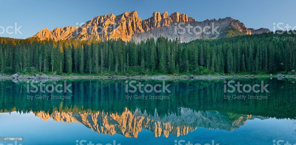 Lago di Carezza (Dolomiti) stock photo
