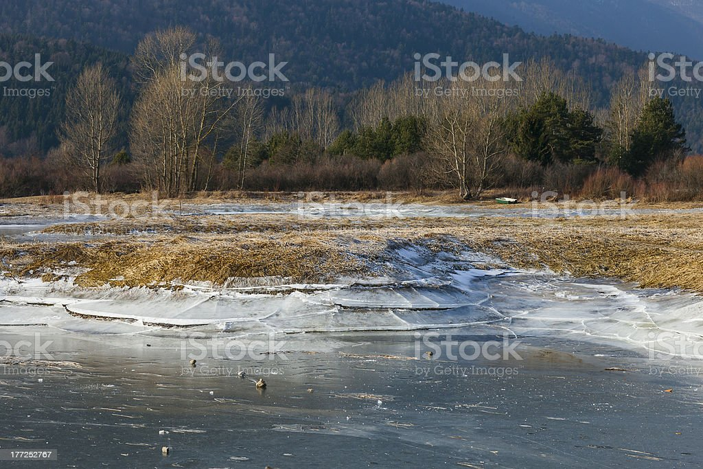 Lake Cerknica stock photo