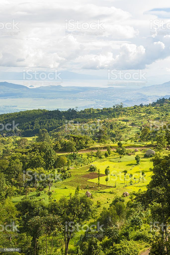Lake Chamo Village Area stock photo