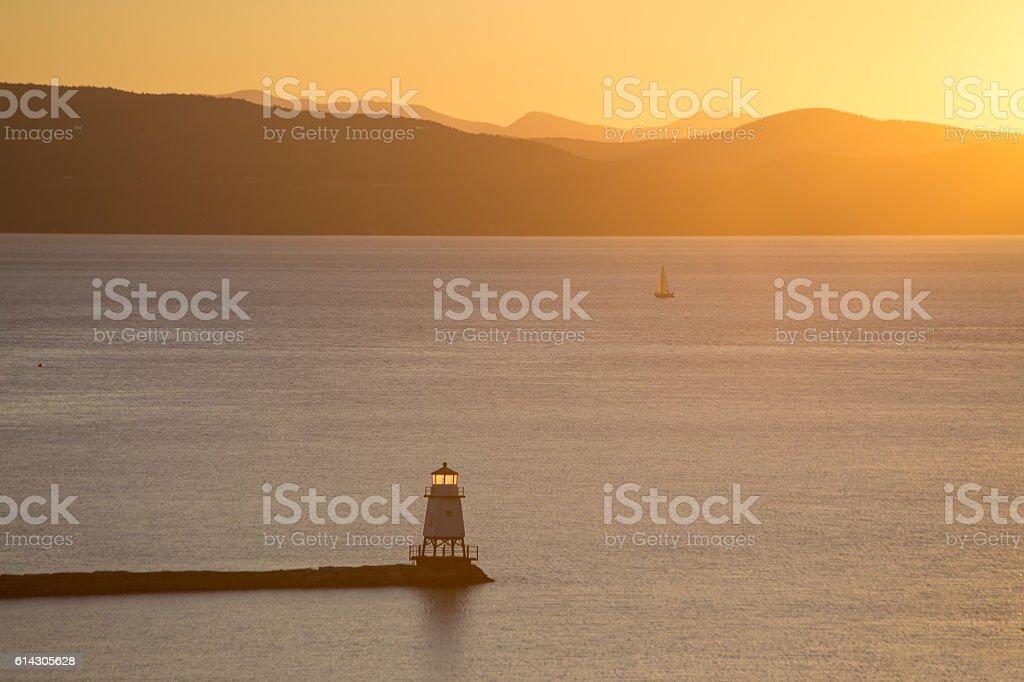 Lake Champlain stock photo
