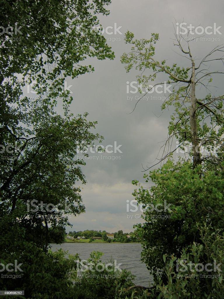 Lake Champlain, Plattsburgh Bay, New York stock photo