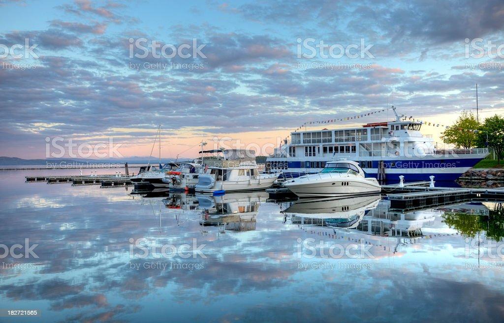 Lake Champlainin Burlington, Vermont stock photo