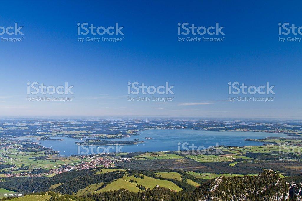 lake Chiemsee in Bavaria stock photo