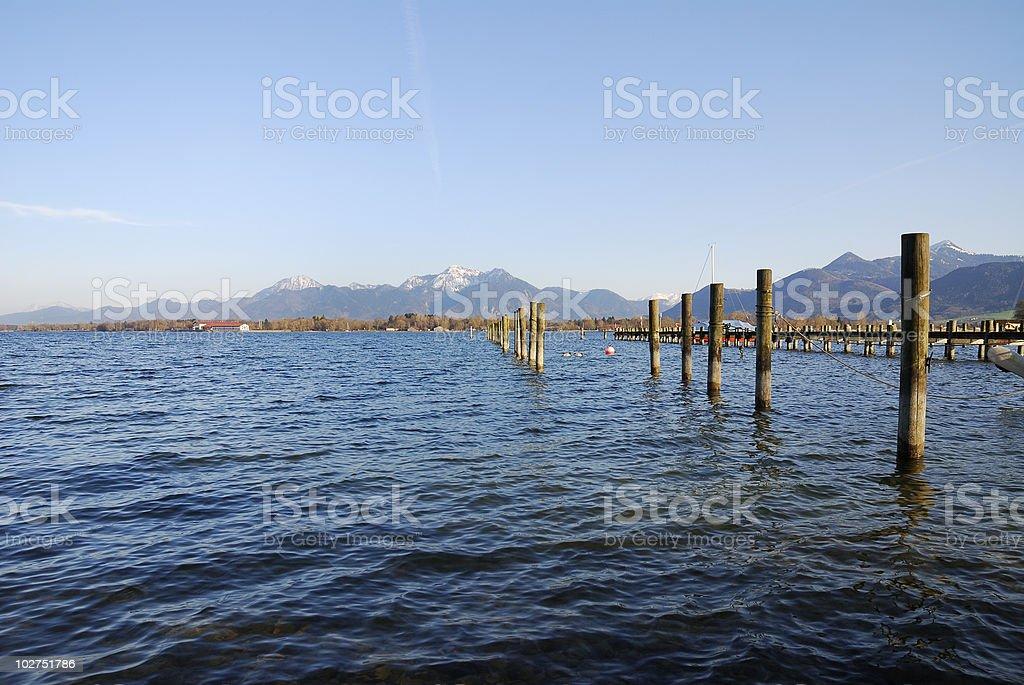 Lake Chiemsee stock photo