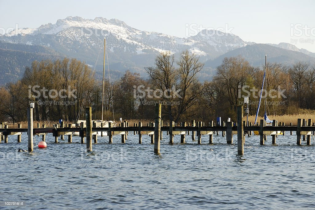 Lake Chiemsee royalty-free stock photo